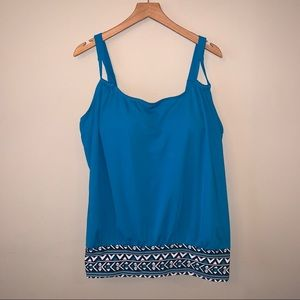 Swimsuits For All Blue Tankini Top